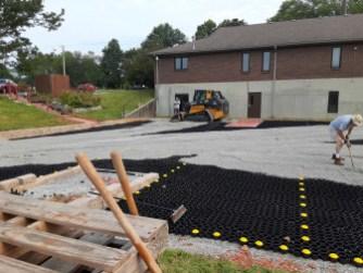 Spreading gravel. Image: Chandler Jackson