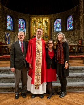 The Rev. Dr. Lon Wiksell, Fr. Ryan, Christina Wiksell, Fran Wiksell - Ordination of Ryan David Wiksell to the Sacred Order of Priests at Grace and Holy Trinity Cathedral, Kansas City, Missouri. October 2, 2021. Image credit: Gary Allman