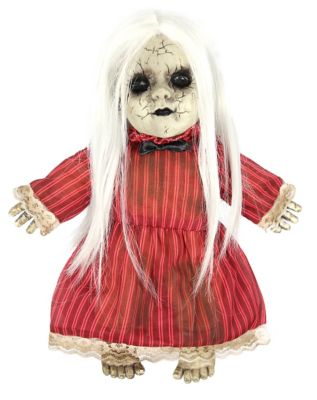 14 Inch Animated Red Rosie Haunted Doll Decorations