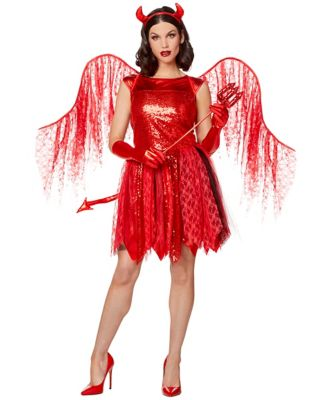 Baddie Devil Costume : baddie, devil, costume, Devil, Costumes, Adults, Spirithalloween.com