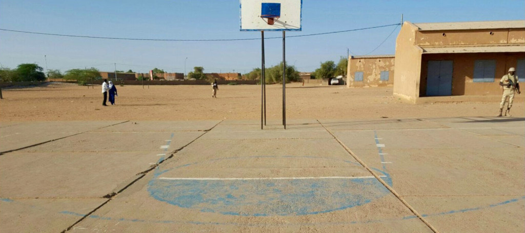 Refurbishing this basketball court and using it to host a community event will allow a U.S. team to demonstrate goodwill to the people of Agadez and start building trust.