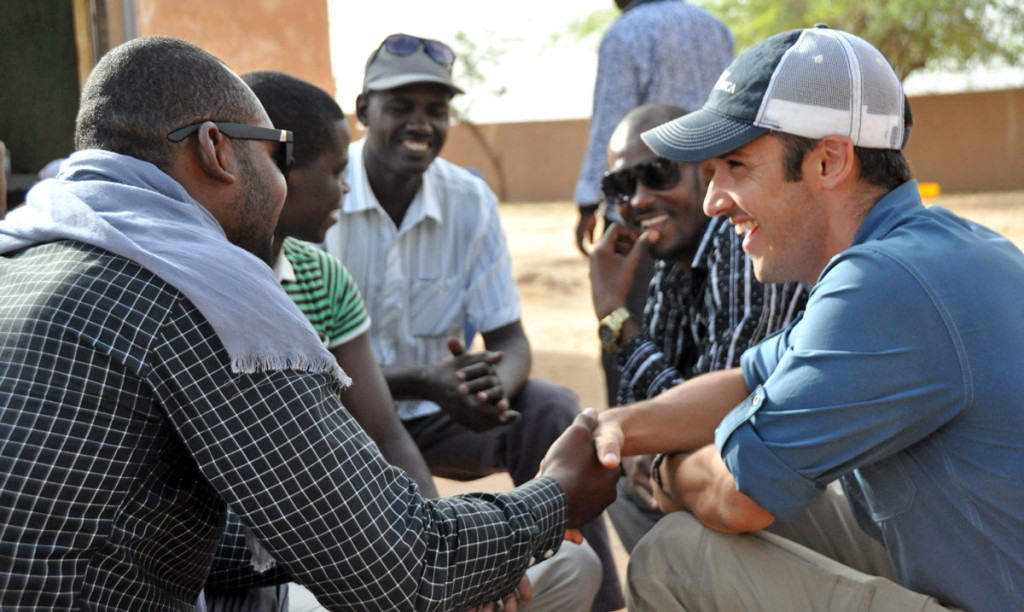 SoA Field Rep, Chris, meets with SoA supported graduates during a recent visit to the town of Ingall in Niger's Agadez Region