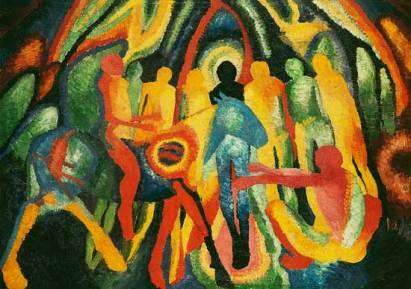 "The painting ""Entering Jerusalem"" by Wilhelm Morgner (1912)"