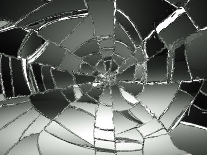Broken glass. Sin is a disruption, or breaking, of God's shalom.