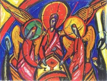 Image: Alek Rapoport. Trinity in Dark Tones (Genesis 18), 1994.