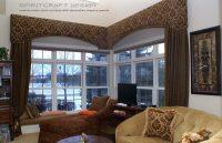Custom window treatments, drapery, valance, swags in