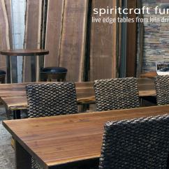Custom Restaurant Tables And Chairs Keyboard Chair Mount Live Edge Slab Table Showroom In The Chicago Area Natural Dining Round Conference Walnut Crafted With Kiln Dried