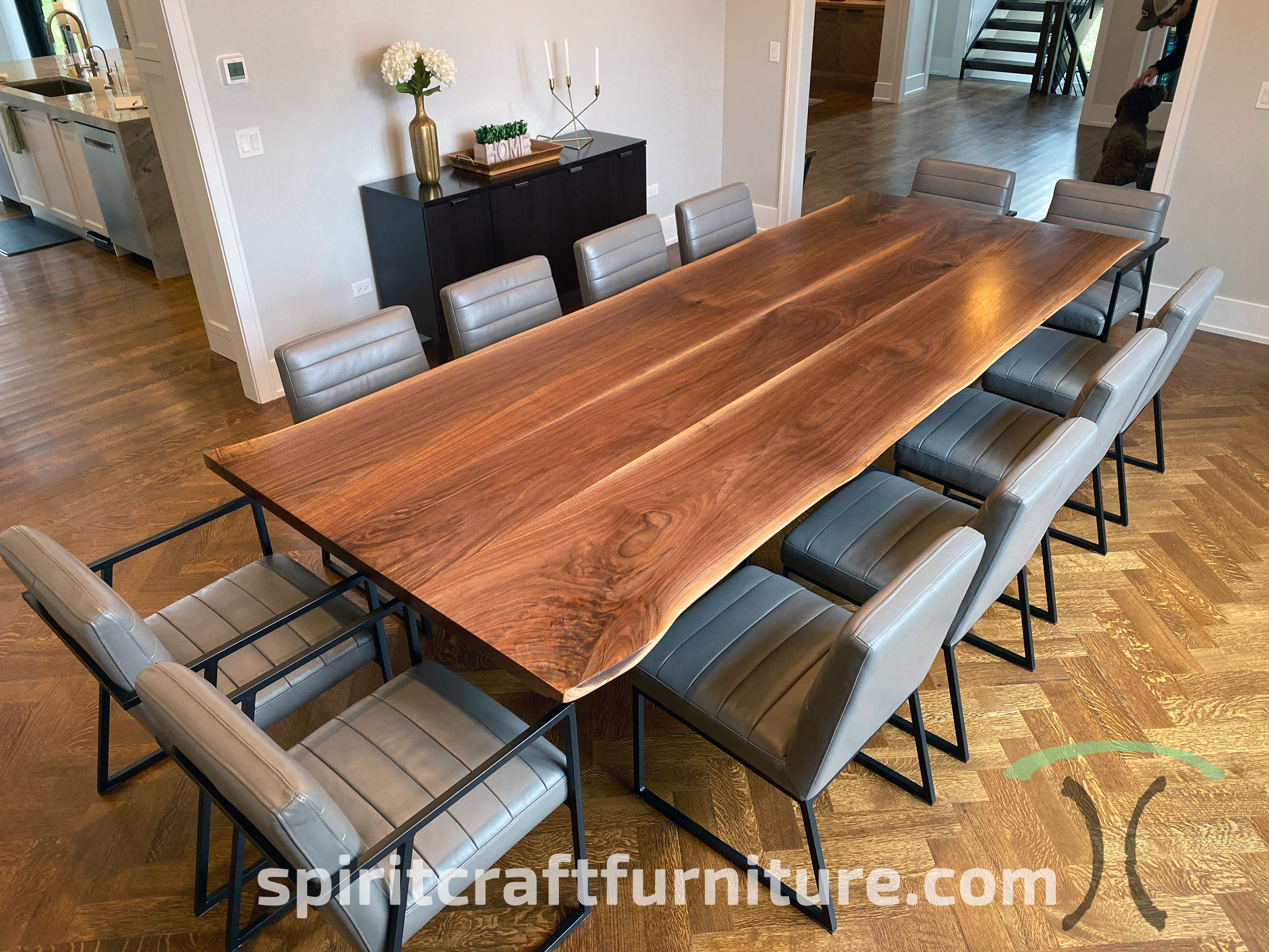 custom solid wood and live edge dining