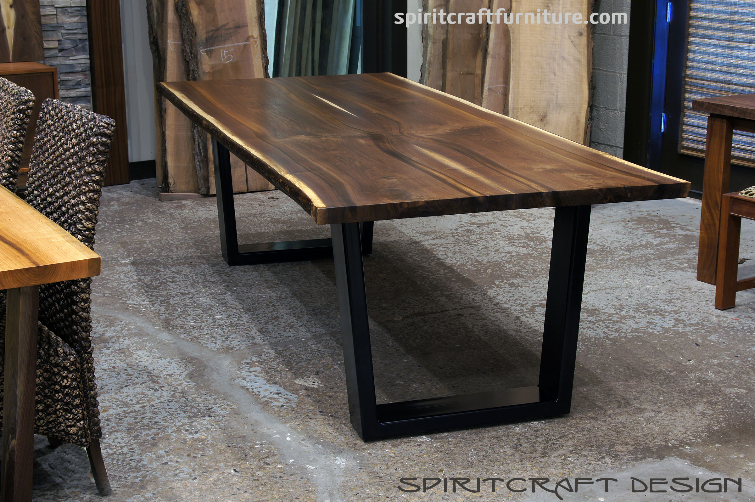 black walnut kitchen table restain cabinets live edge slab dining tables slabs and tops
