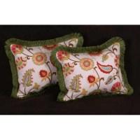 Jacobean Print - Pierre Frey Strie Velvet Designer Pillows