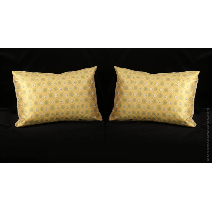 Custom Silk Modern Decorative Pillows  Choose Size Trim