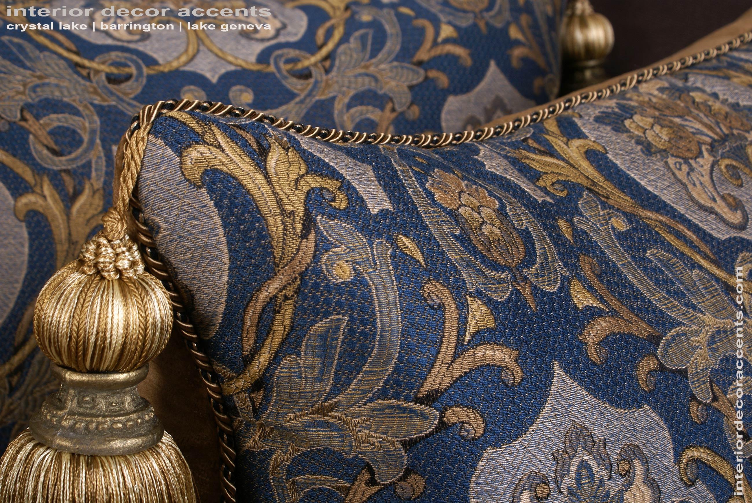 Schumacher Italian Tapestry  Lee Jofa Velvet Designer Pillows
