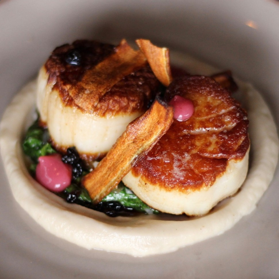 Seared Scallops at Corner Door