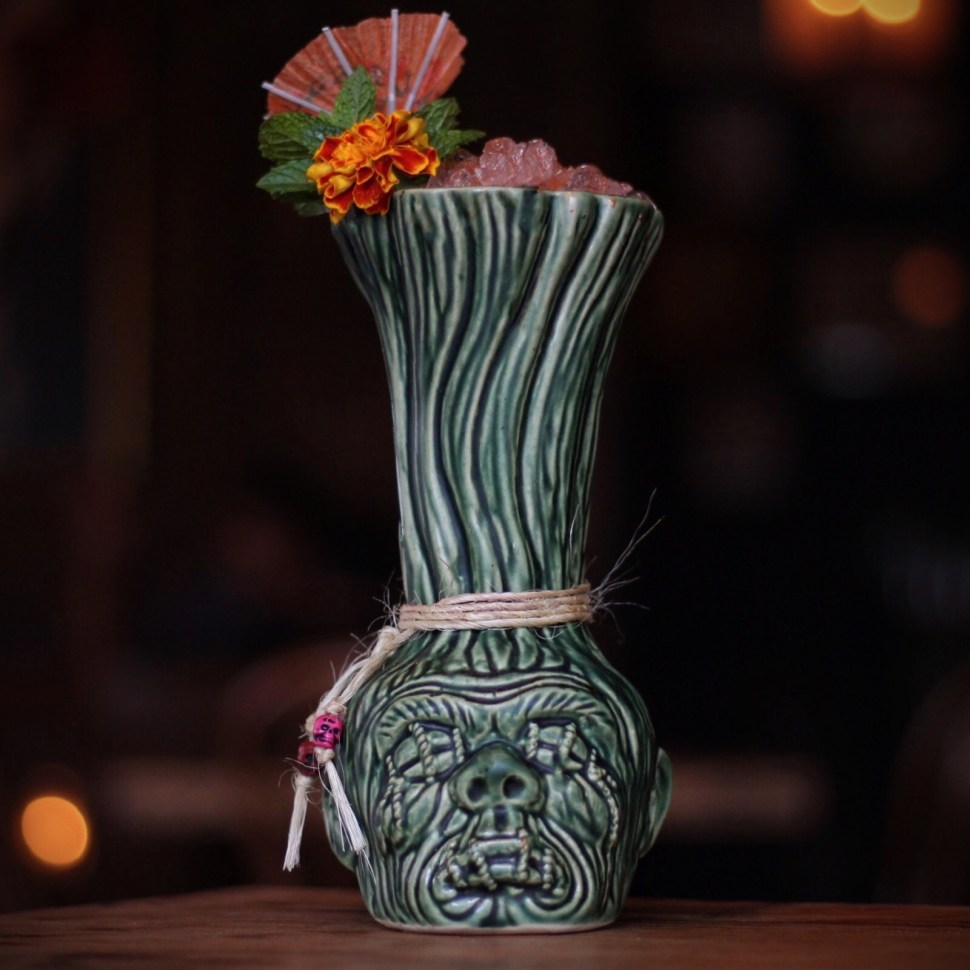 Tiki at Corner Door
