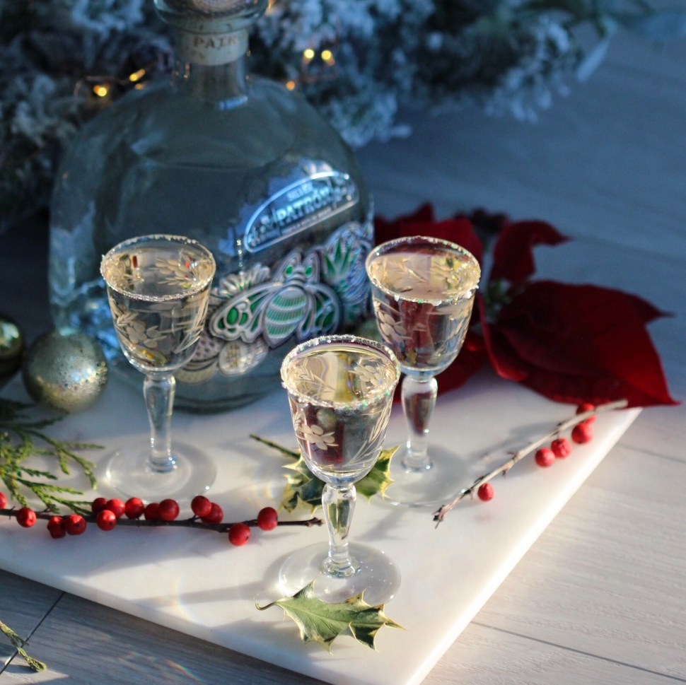 "Mint and tequila come together for this holiday aperitif cocktail: ""To Grandmother's House We Go."""