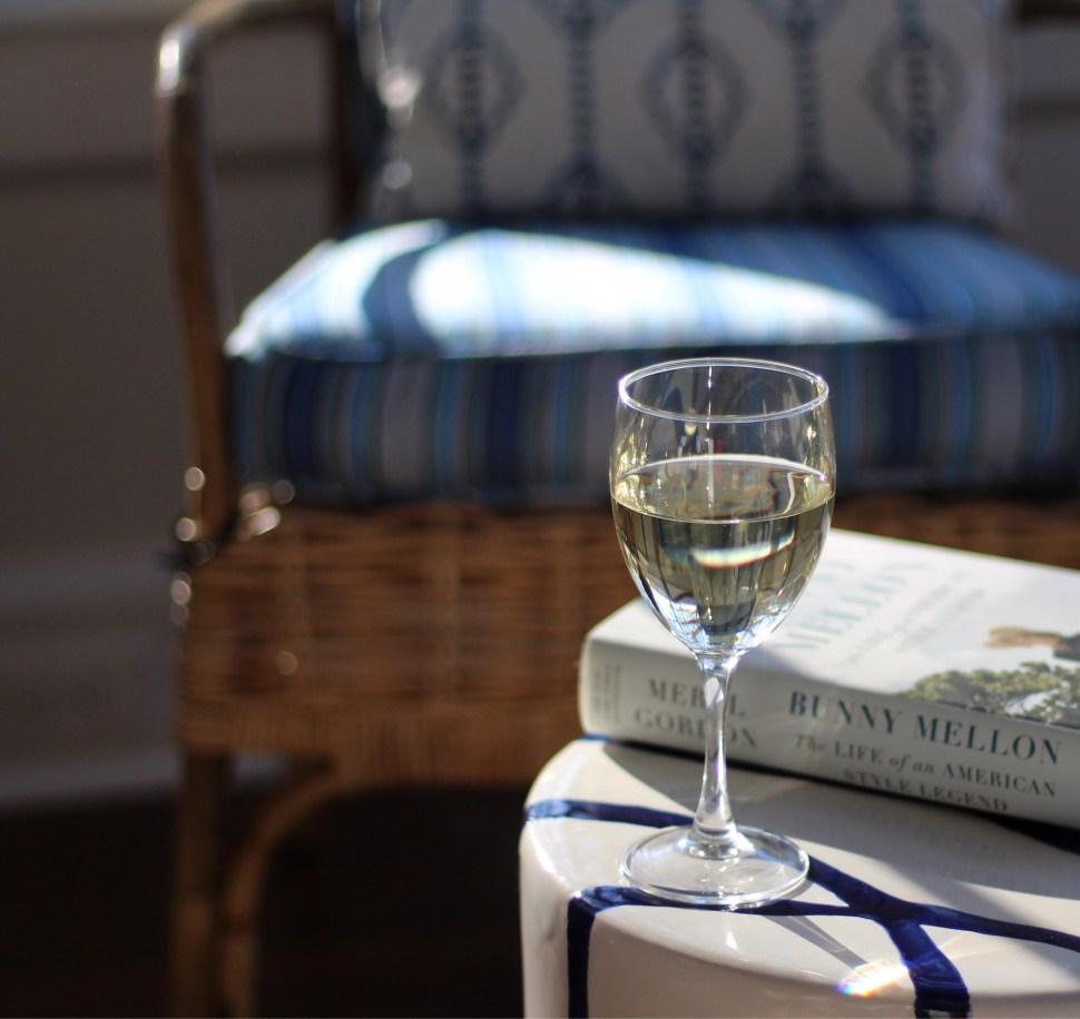 Wine on the porch at RI Bed and Breakfast Margin Street Inn - SpiritedLA