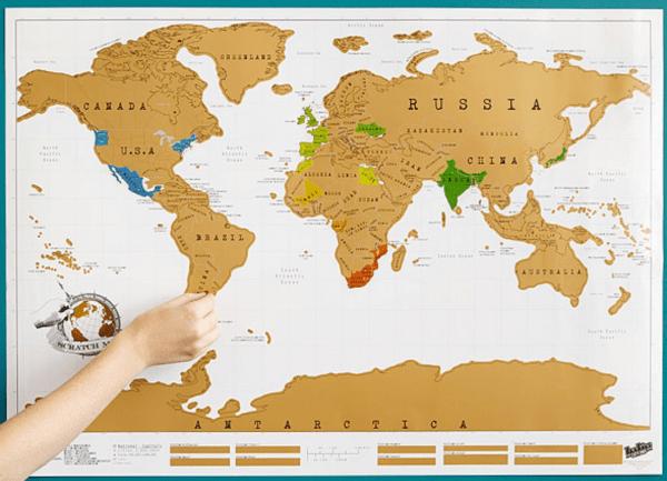World Scratch Off Map