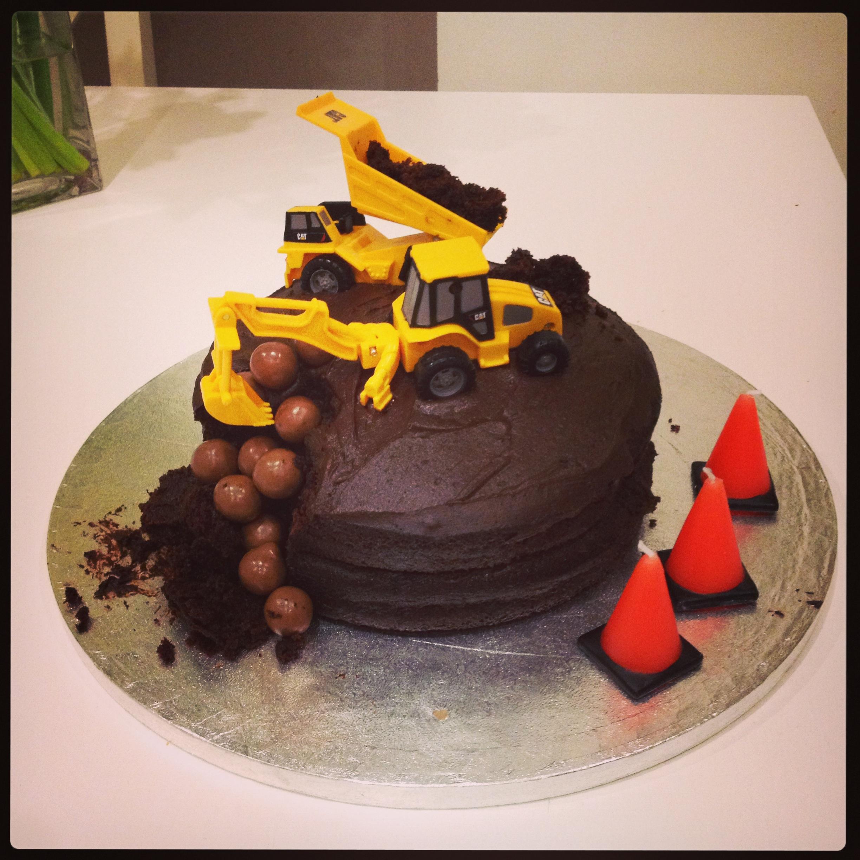 Childhood Joy Easy Construction Themed Birthday Cake