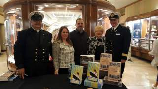L-R: James Brandmueller, Nicole, Joe Bertoldo, June Allen (war bride), Honorary Commodore Everette Hoard