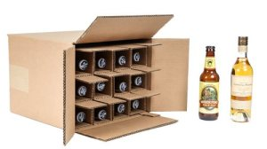Twelve bottle beer shipping box with bottle insert