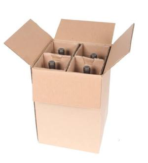 wine magnum shipping box for 4 bottles