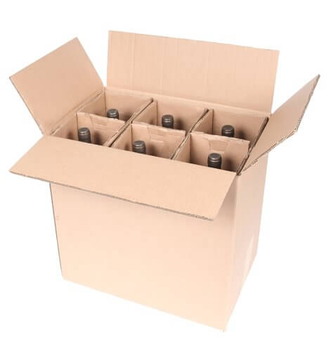 six bottle wine magnum shipping box