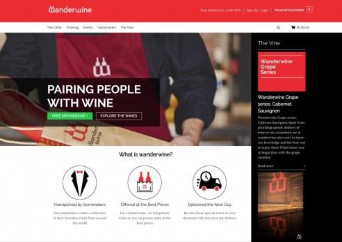 wanderwine site screenshot