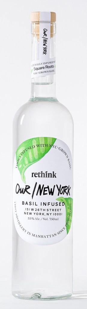 Our/New York Vodka Basil Bottle