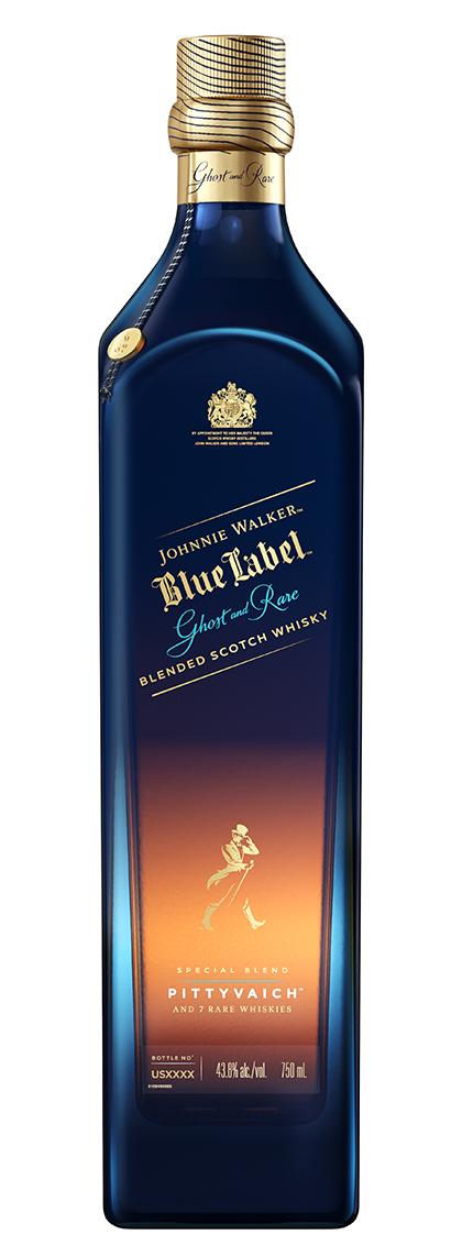 nie Walker Blue Label Ghost & Rare Pittyvaich bottle