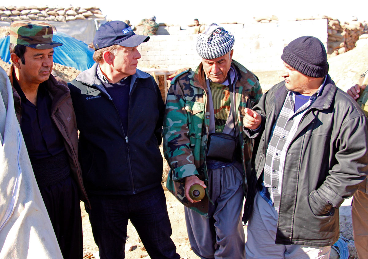 SoA's Jim Hake talked with peshmerga commanders about their needs