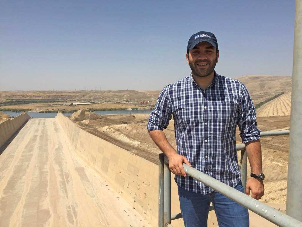 SoA's Middle East manager, Zack, at the Mosul Dam in northern Iraq