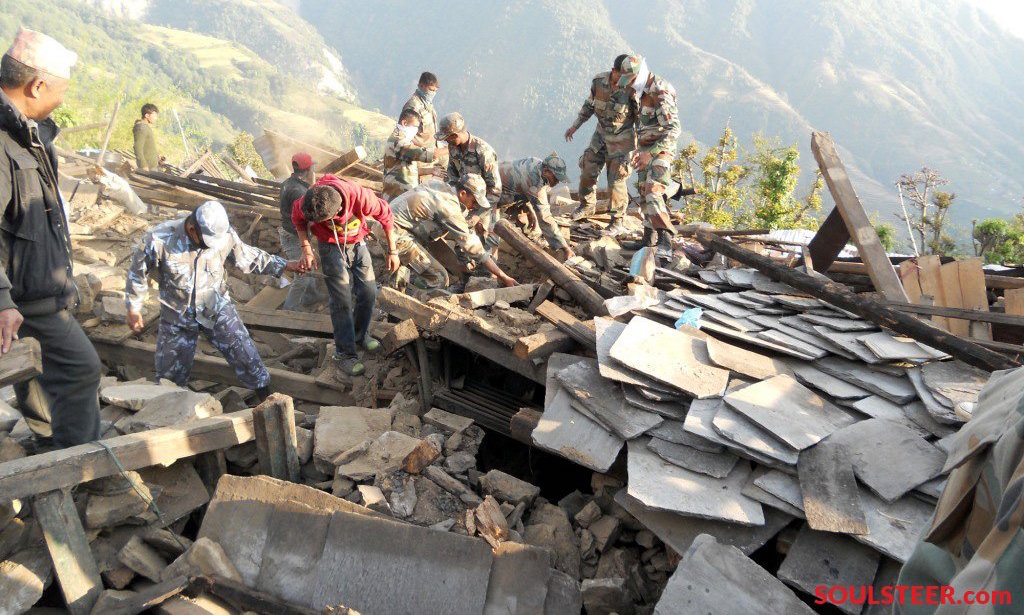 The Nepal military was the primary response force for Nepal after the 2015 Earthquake. Response in remote areas was particularly challenging. (Photo Courtesy of soulsteer.com)