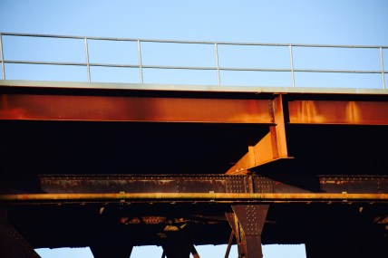 Top of train bridge