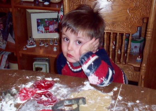 Little Mason's face