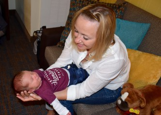 Aunt Allie meeting Colt for the first time