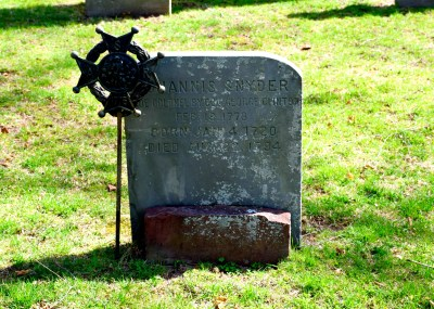 Cemetery stone in Kingston, NY