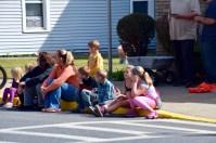 Families enjoying the parade