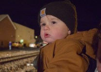 Colt waiting for the holiday train