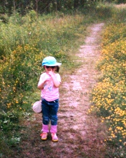 My youngest daughter as a small child