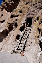 Ladders to the caves