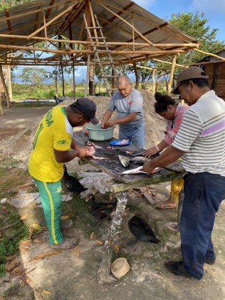 Rebuilding the village that had burned down