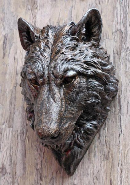 Shadowdancer Wolf Bust  Spirit of the Green Man