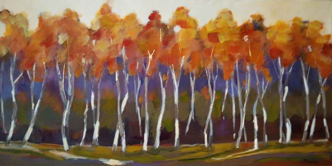 Autumn Birch by Judy Hopkins