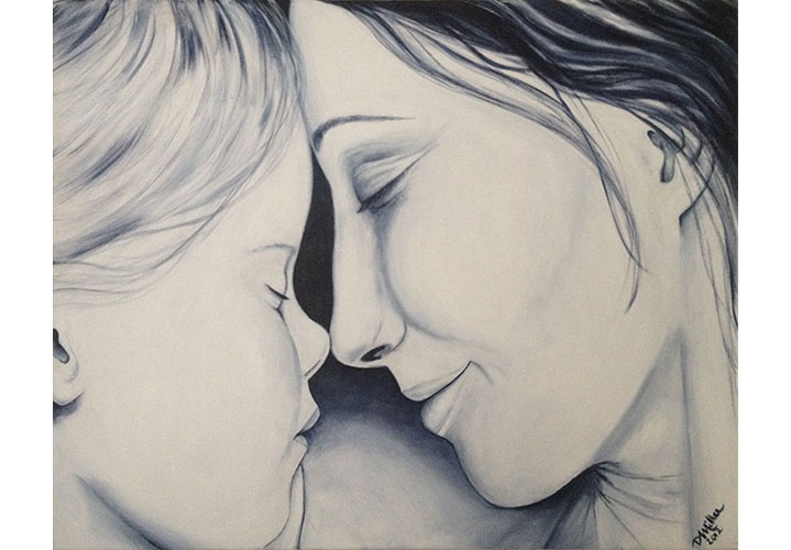 "Mother and Child by Dawn Miller - acrylic on canvas 24""x30"""