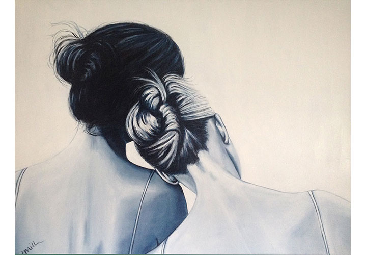 """Sisters by Dawn Miller - acrylic on canvas 24""""x30"""""""