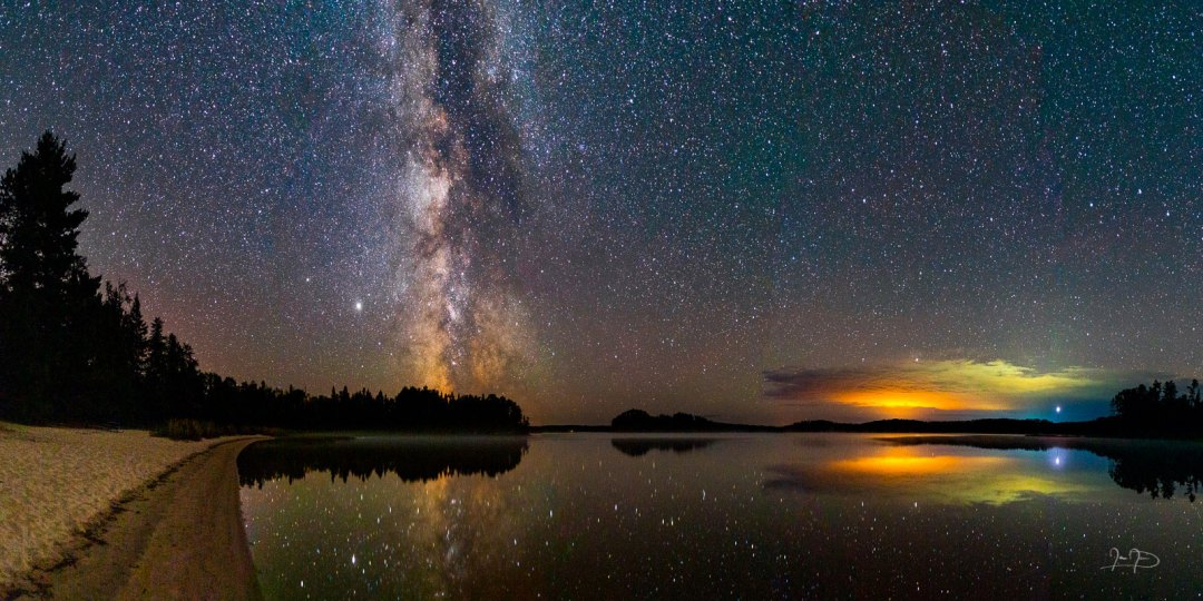 Milky Way over French Lake by Ian Davis