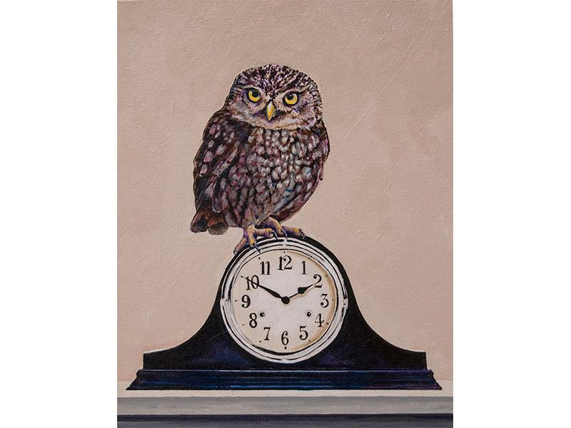 Night Watch by Barbara Bickell 14 x1 1 inches