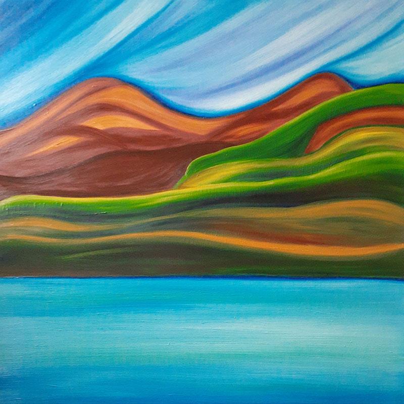 Rolling Mountains, Jasper by Jenni Burke