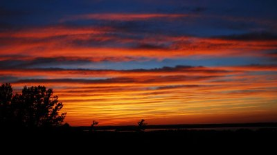 Sunset Over Rice Lake by Norma Keith
