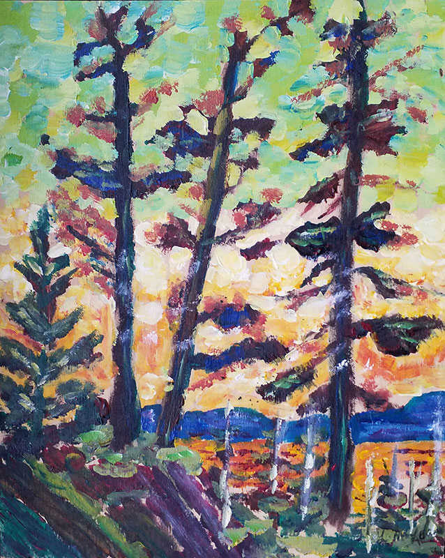 Tom's Algonquin by Lorraine McLean after Tom Thomson
